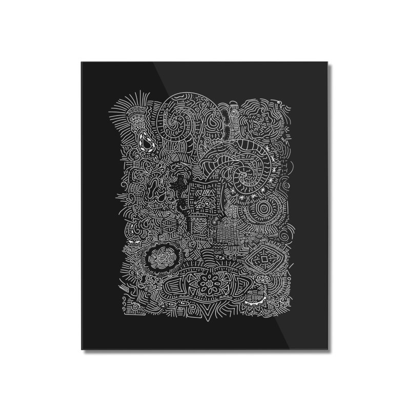 Tribal Doodle Home Mounted Acrylic Print by Lanky Lad Apparel