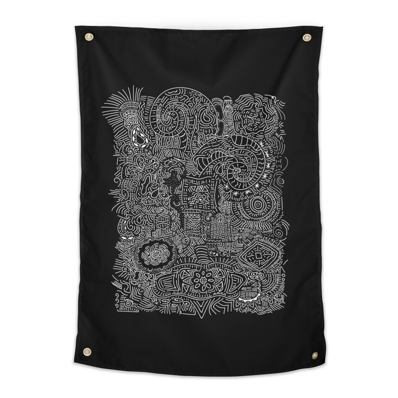 Tribal Doodle Home Tapestry by Lanky Lad Apparel