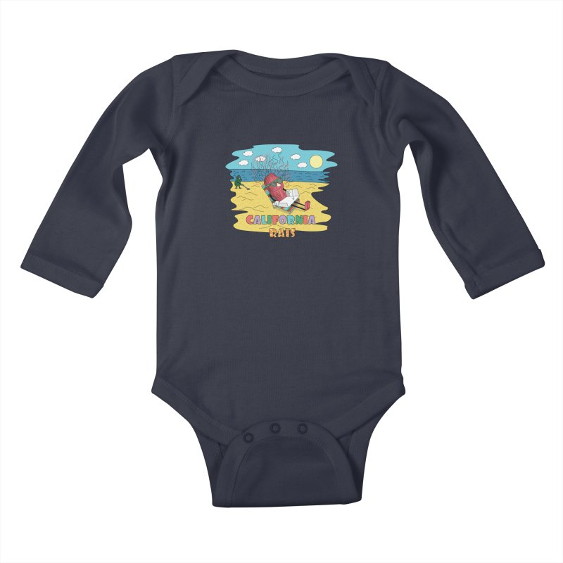 California Rais Kids Baby Longsleeve Bodysuit by Lanky Lad Apparel