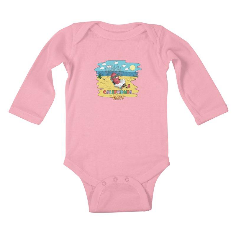 California Rais Kids Baby Longsleeve Bodysuit by Lanky Lad Apparel