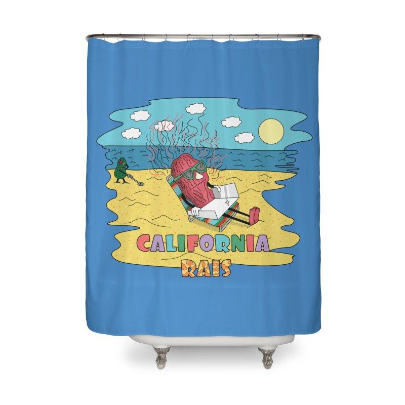 California Rais Home Shower Curtain by Lanky Lad Apparel