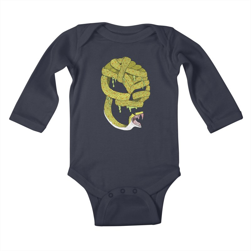 Poisonous Kids Baby Longsleeve Bodysuit by Lanky Lad Apparel