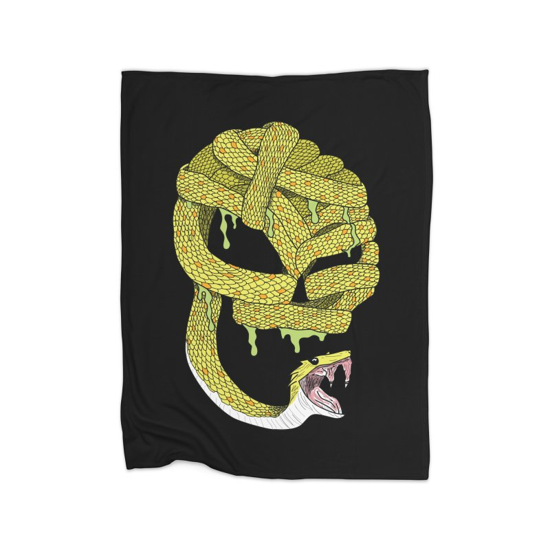 Poisonous Home Blanket by Lanky Lad Apparel
