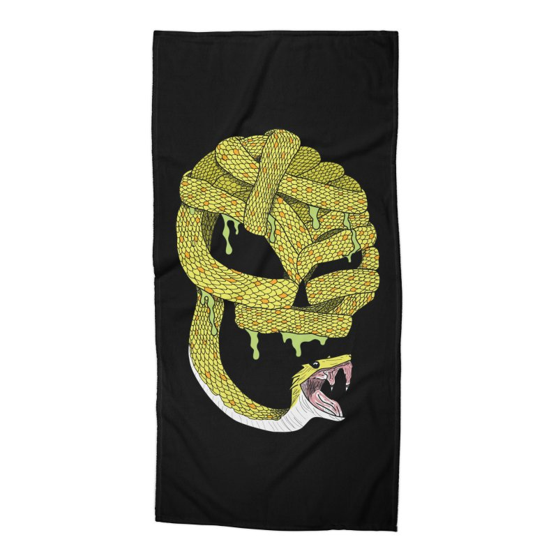 Poisonous Accessories Beach Towel by Lanky Lad Apparel