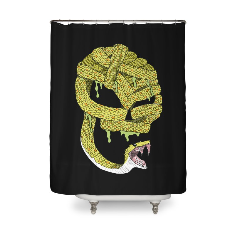 Poisonous Home Shower Curtain by Lanky Lad Apparel