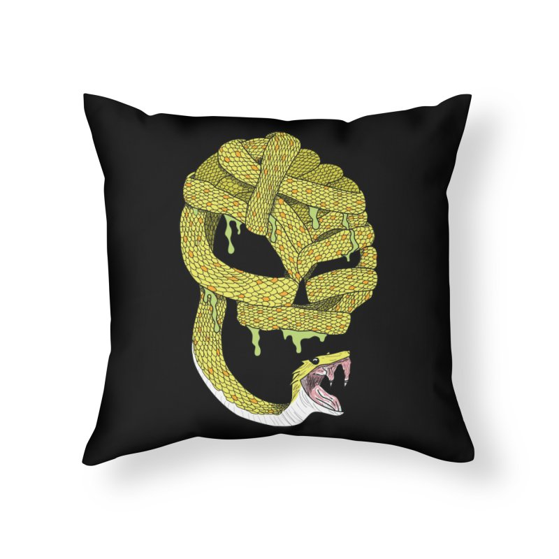 Poisonous Home Throw Pillow by Lanky Lad Apparel