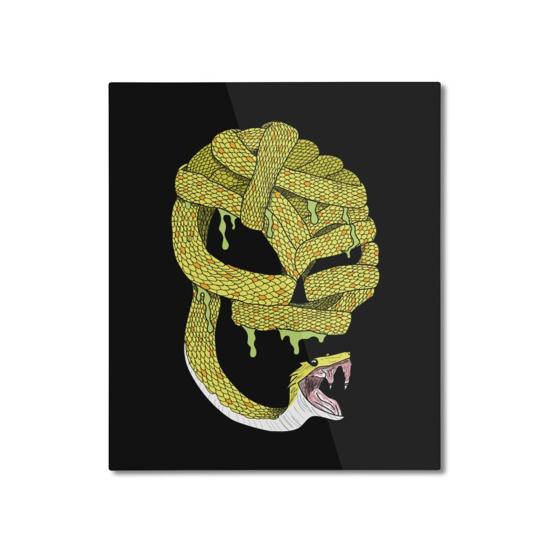 Poisonous Home Mounted Aluminum Print by Lanky Lad Apparel