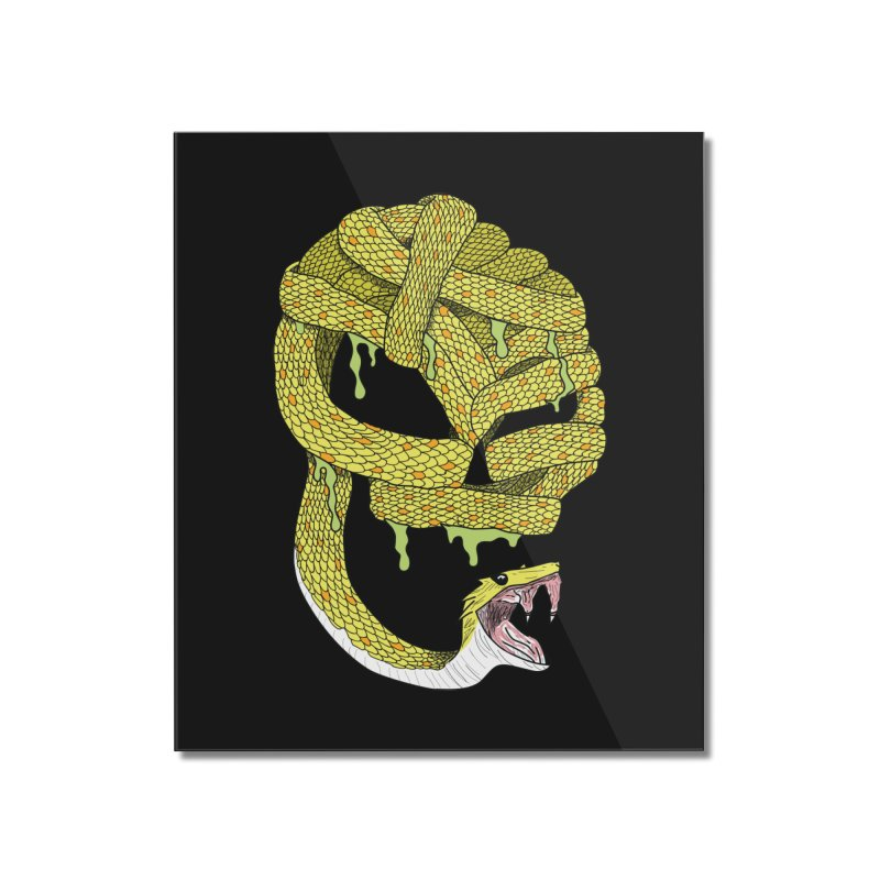 Poisonous Home Mounted Acrylic Print by Lanky Lad Apparel