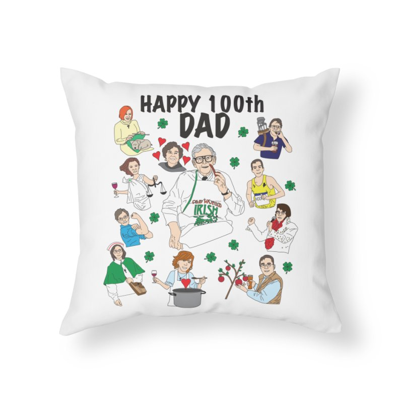 Hooper Family Home Throw Pillow by Lanky Lad Apparel
