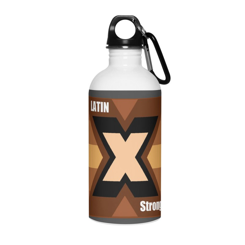 LatinX Strong Accessories Water Bottle by LatinX Strong