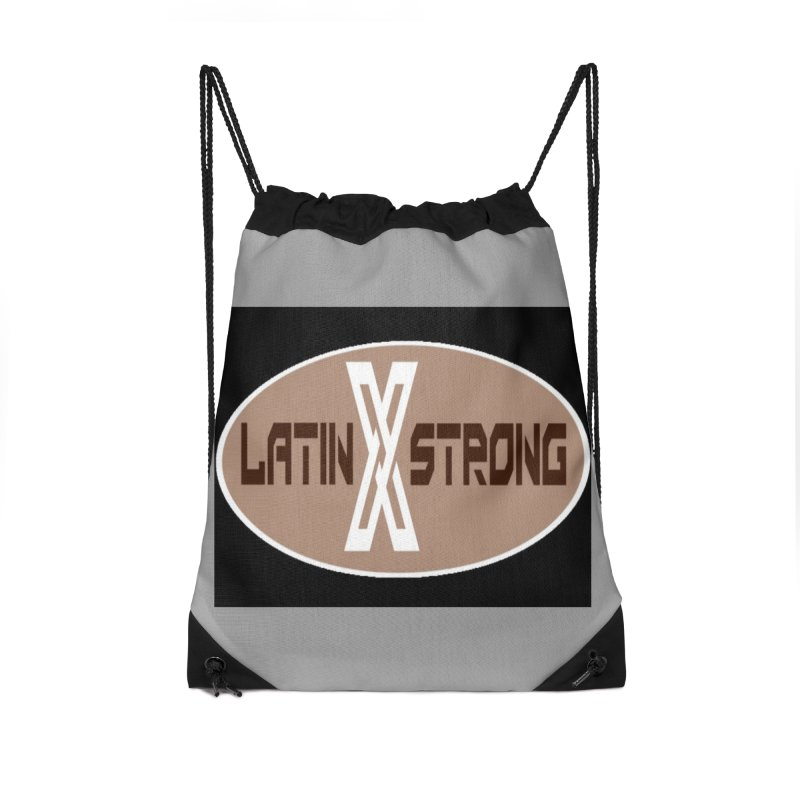 LatinX Strong Accessories Drawstring Bag Bag by LatinX Strong