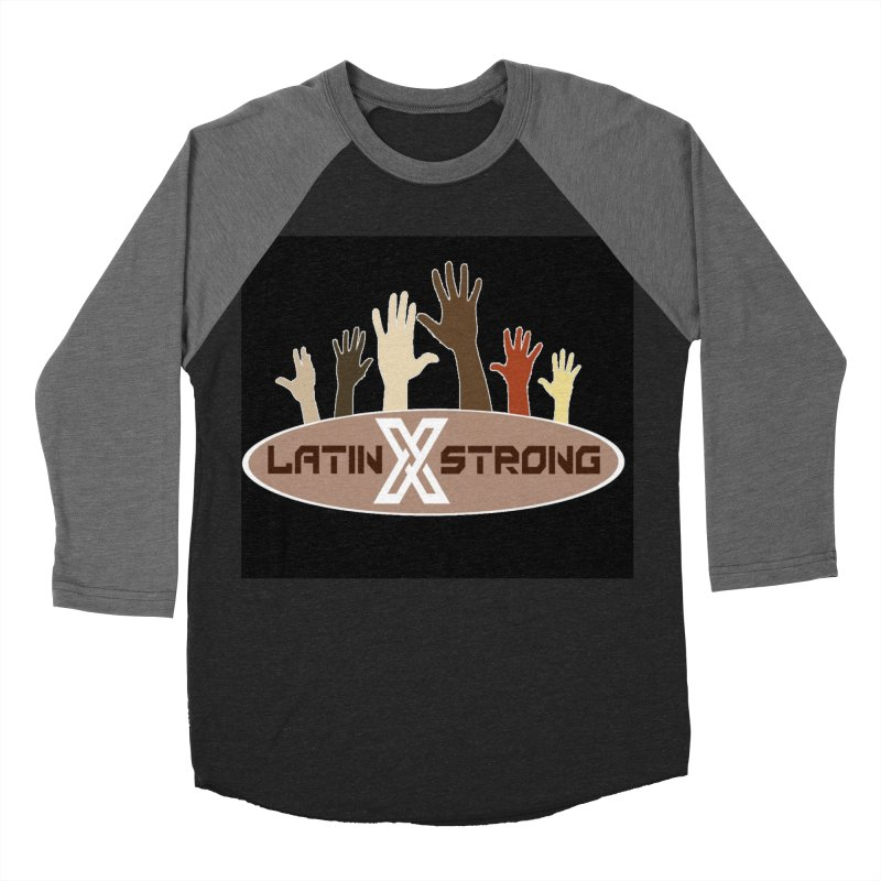 LatinX Strong for Change Men's Baseball Triblend T-Shirt by LatinX Strong