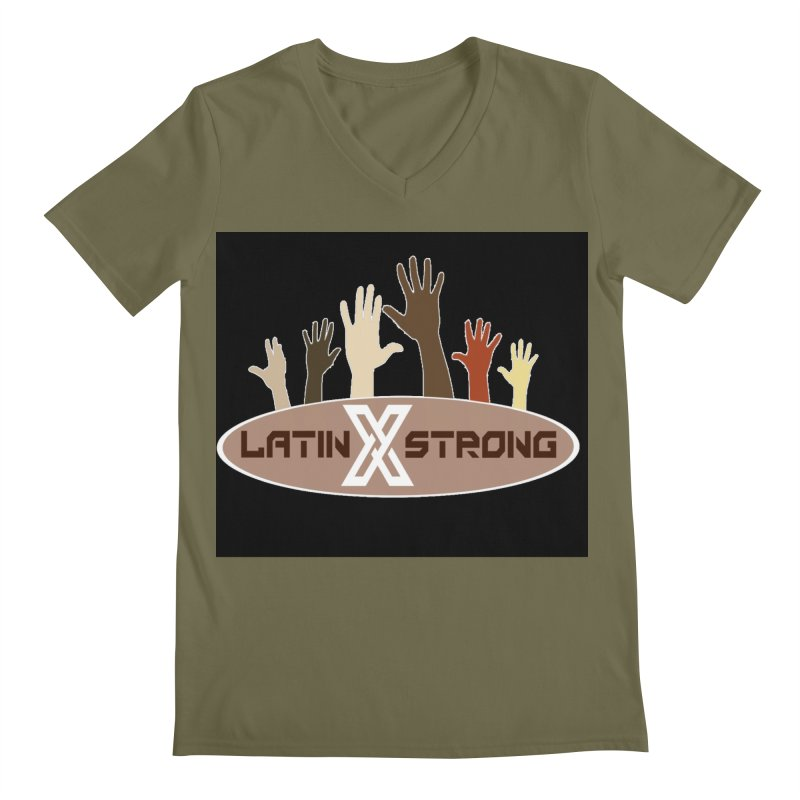 LatinX Strong for Change Men's V-Neck by LatinX Strong