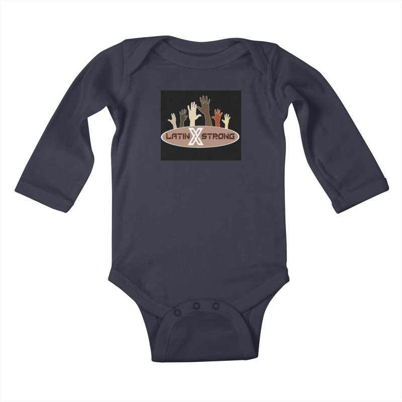 LatinX Strong for Change Kids Baby Longsleeve Bodysuit by LatinX Strong