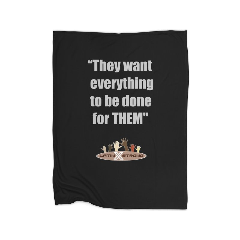 THEM by LatinX Strong Home Fleece Blanket Blanket by LatinX Strong