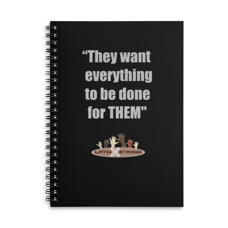 THEM by LatinX Strong Accessories Lined Spiral Notebook by LatinX Strong
