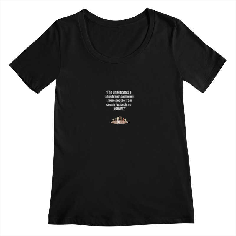 NORWAY by LatinX Strong Women's Scoopneck by LatinX Strong
