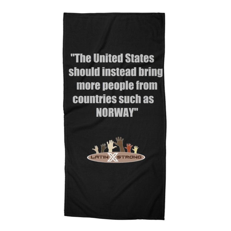 NORWAY by LatinX Strong Accessories Beach Towel by LatinX Strong