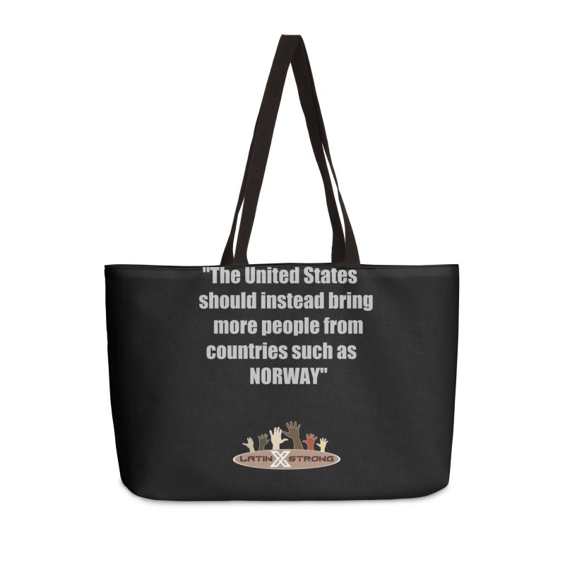 NORWAY by LatinX Strong Accessories Weekender Bag Bag by LatinX Strong