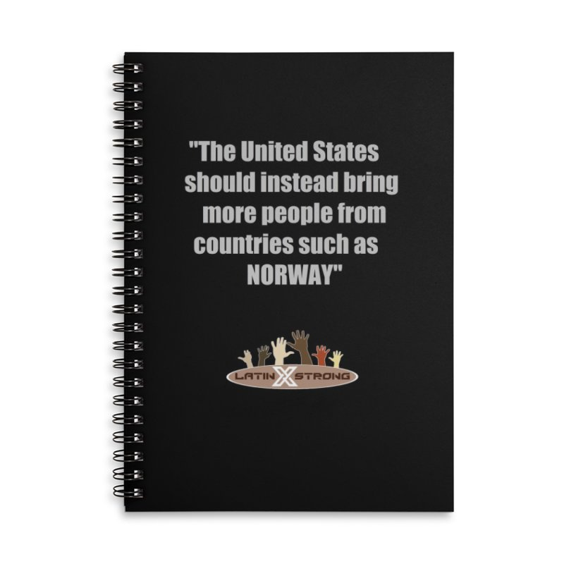NORWAY by LatinX Strong Accessories Lined Spiral Notebook by LatinX Strong