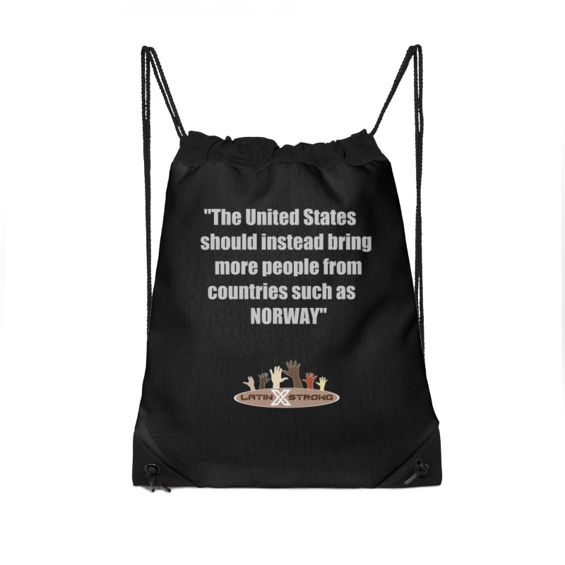 NORWAY by LatinX Strong Accessories Drawstring Bag Bag by LatinX Strong