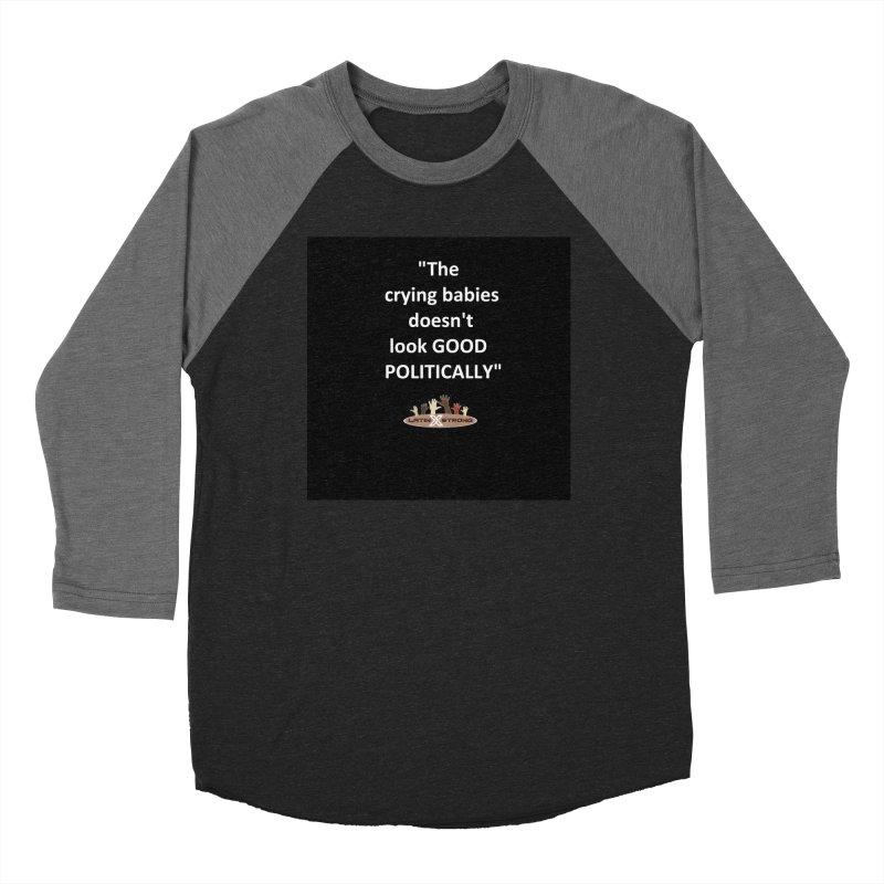 Crying Babies Women's Baseball Triblend Longsleeve T-Shirt by LatinX Strong