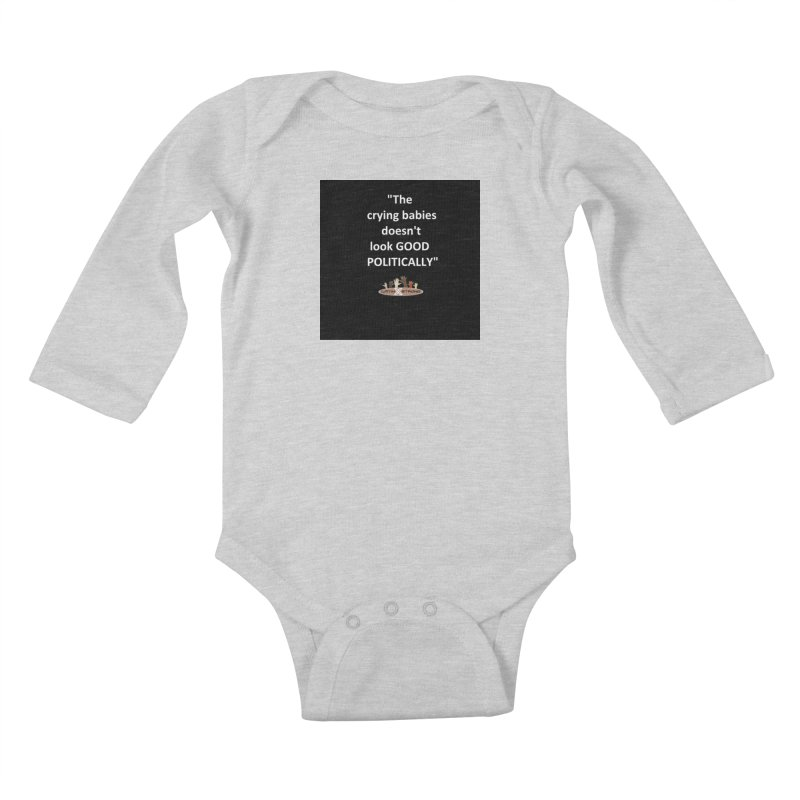 Crying Babies Kids Baby Longsleeve Bodysuit by LatinX Strong