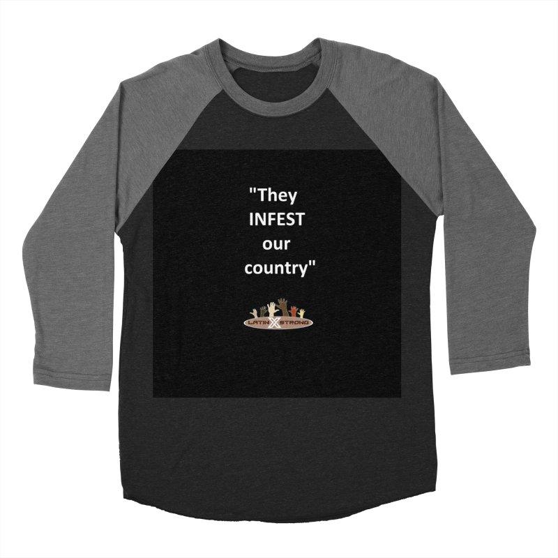 Infest Women's Baseball Triblend Longsleeve T-Shirt by LatinX Strong