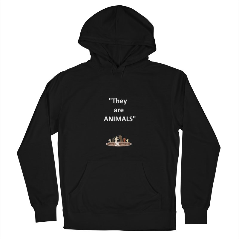 Animals Men's French Terry Pullover Hoody by LatinX Strong