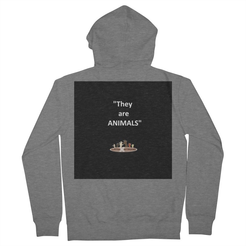 Animals Men's French Terry Zip-Up Hoody by LatinX Strong