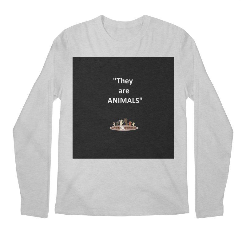 Animals Men's Regular Longsleeve T-Shirt by LatinX Strong