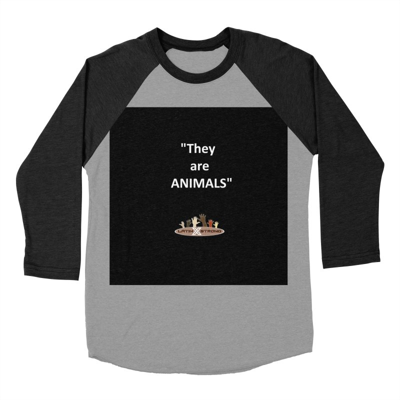 Animals Men's Baseball Triblend Longsleeve T-Shirt by LatinX Strong