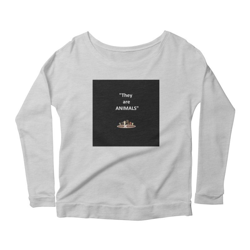 Animals Women's Scoop Neck Longsleeve T-Shirt by LatinX Strong