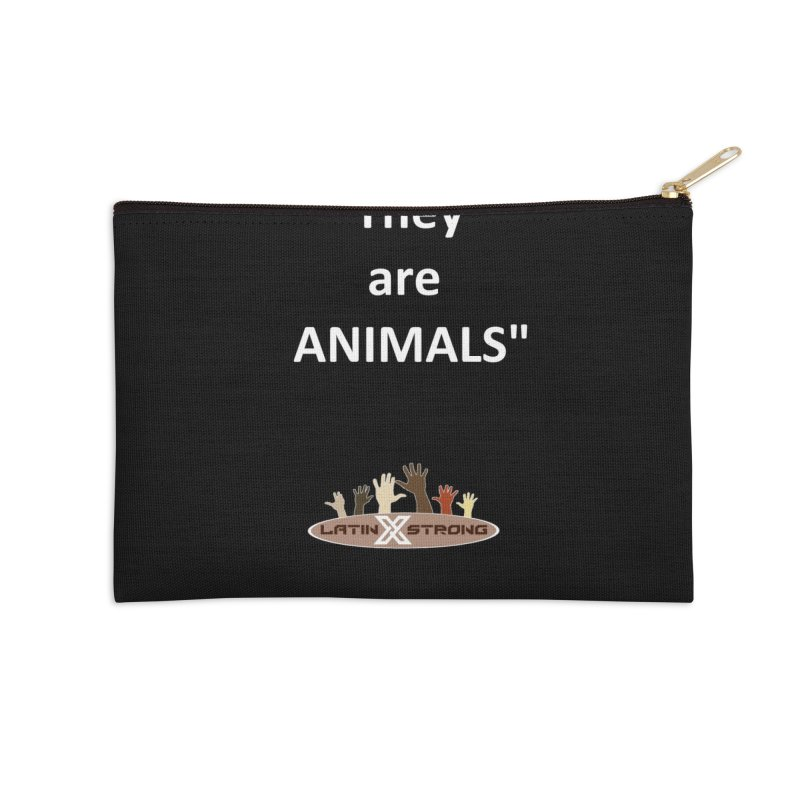 Animals Accessories Zip Pouch by LatinX Strong