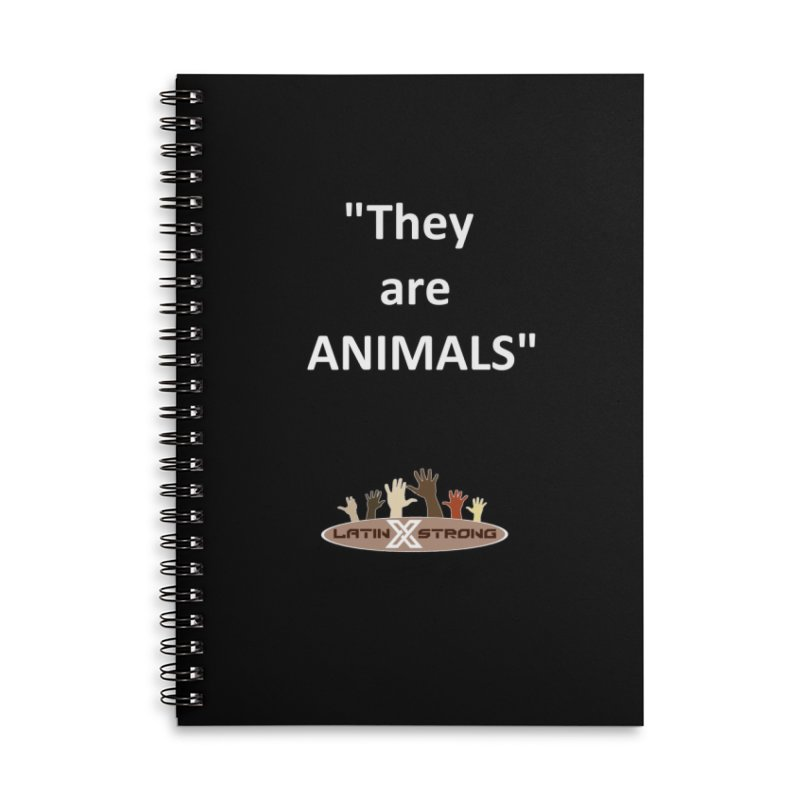 Animals Accessories Lined Spiral Notebook by LatinX Strong