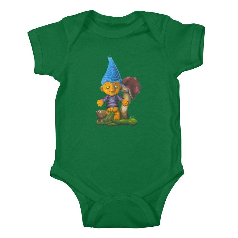 Trolling Along Kids Baby Bodysuit by Art by Latinsilver