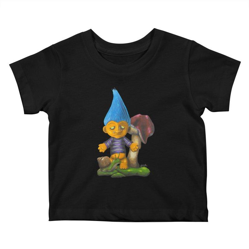 Trolling Along Kids Baby T-Shirt by Art by Latinsilver