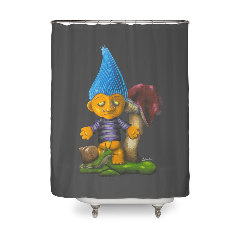 Trolling Along Home Shower Curtain by Art by Latinsilver