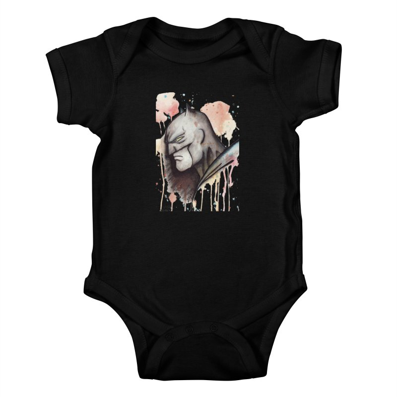 The Caped Crusader Kids Baby Bodysuit by Art by Latinsilver