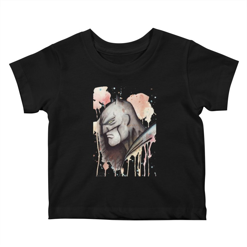 The Caped Crusader Kids Baby T-Shirt by Art by Latinsilver