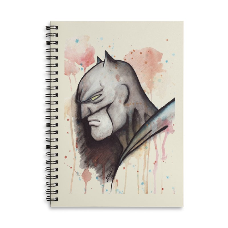 The Caped Crusader Accessories Notebook by Art by Latinsilver