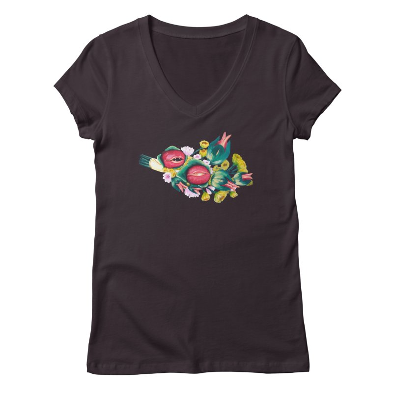 Bunch of Besos Women's V-Neck by Art by Latinsilver