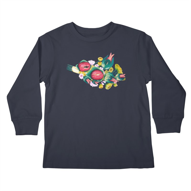 Bunch of Besos Kids Longsleeve T-Shirt by Art by Latinsilver