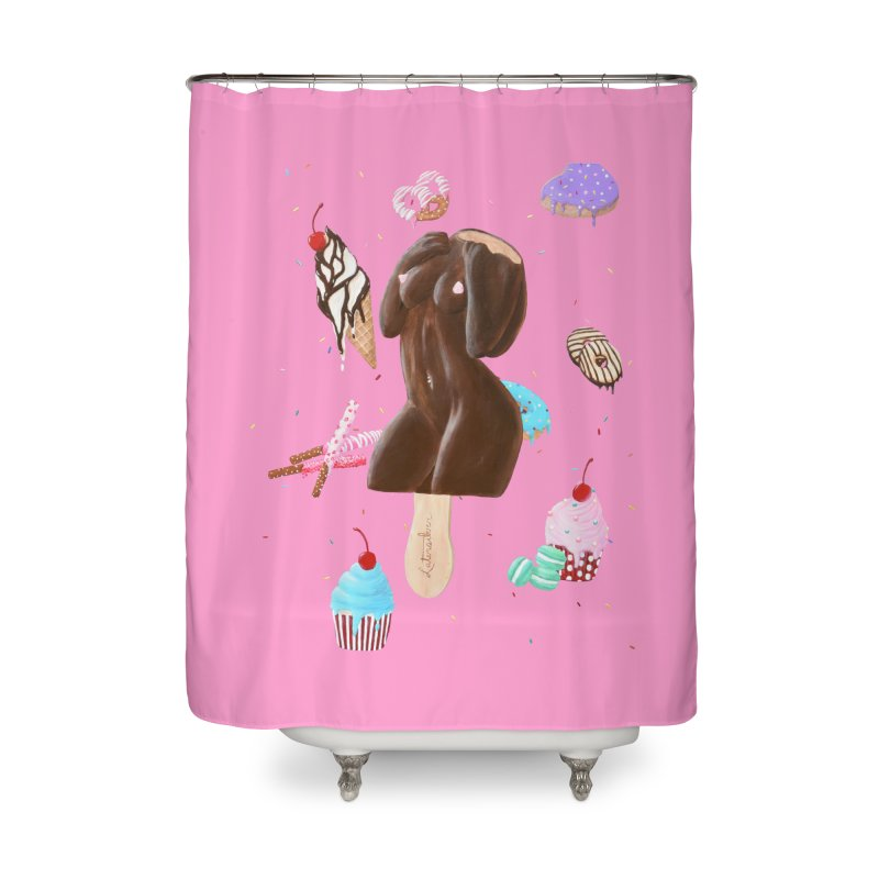 Sweet Lady Home Shower Curtain by Art by Latinsilver