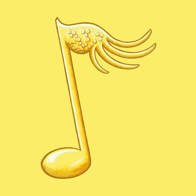Music Gives You Wings - yellow by Laura Glaess's Artist Shop