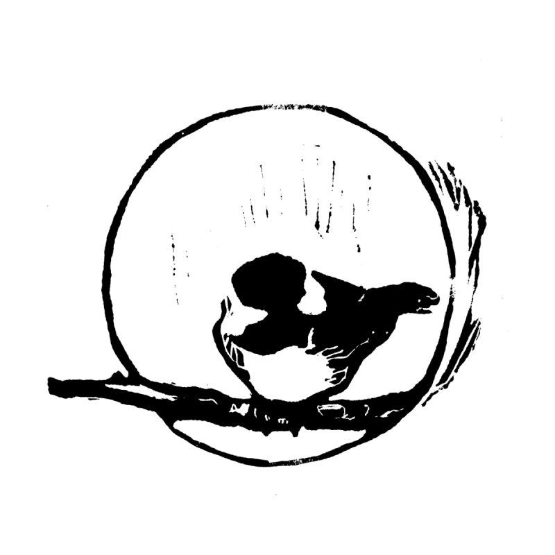 Chickadee Linocut print by LauraStockwell's Artist Shop