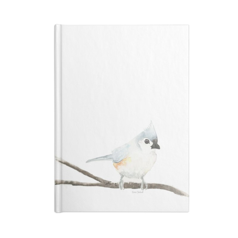 Tufted Titmouse Accessories Lined Journal Notebook by LauraStockwell's Artist Shop