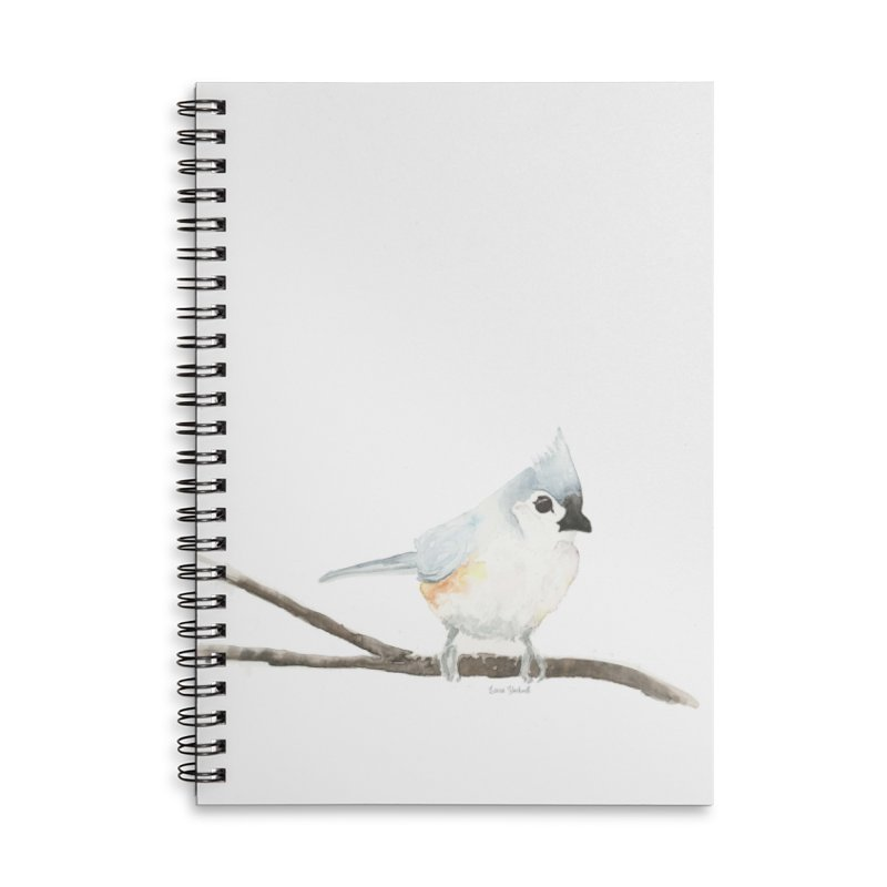 Tufted Titmouse Accessories Lined Spiral Notebook by LauraStockwell's Artist Shop
