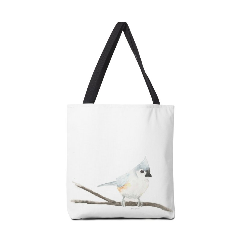 Tufted Titmouse Accessories Tote Bag Bag by LauraStockwell's Artist Shop