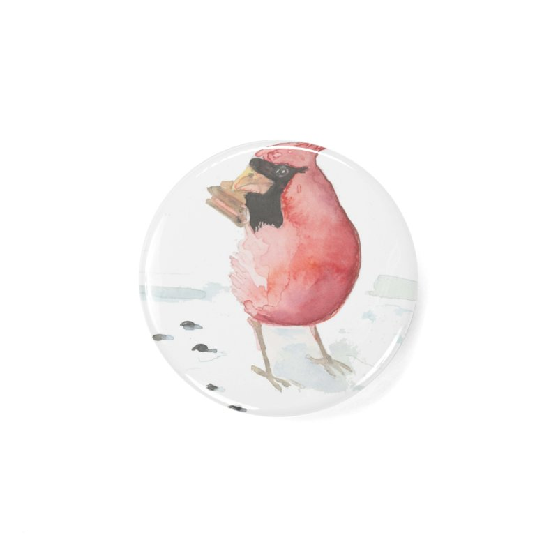 Cardinal Accessories Button by LauraStockwell's Artist Shop